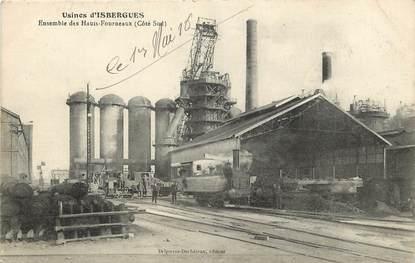 """CPA FRANCE 59 """"Usines d'Isbergues, ensemble des Hauts Fourneaux"""""""