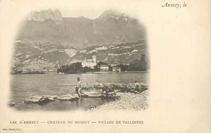 """CPA FRANCE 74 """" Annecy, Le lac, le Château de Duingt et le village de Talloires"""""""