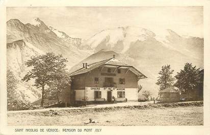 """CPA FRANCE 74 """"St Nicolas de Véroce, Pension du Mont Joly"""""""