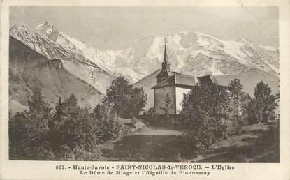 """CPA FRANCE 74 """"St Nicolas de Véroce, L'église"""""""
