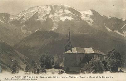 """CPA FRANCE 74 """"St Nicolas de Véroce, Le Truc, Le Miage et La Bérangère"""""""