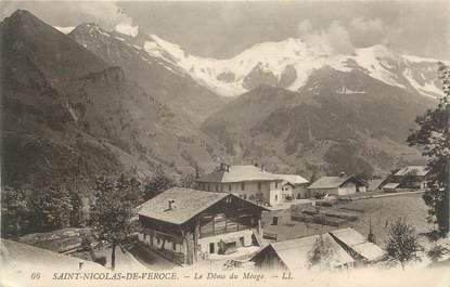 """CPA FRANCE 74 """"St Nicolas de Véroce, Le Dôme du Miage"""""""