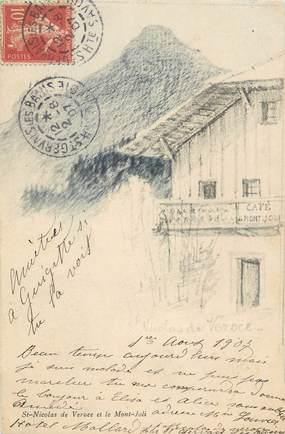 """CPA FRANCE 74 """"St Nicolas de Véroce, Le Café du Mont Joli"""""""