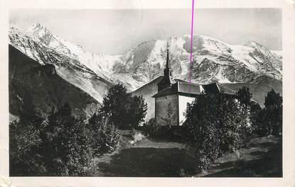 """CPSM FRANCE 74 """"St Nicolas de Véroce, L'église"""""""