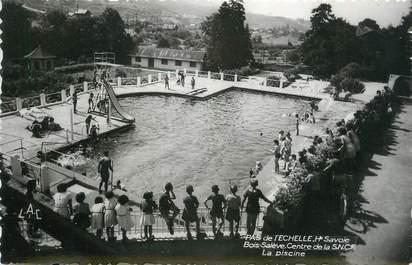 """CPSM FRANCE 74 """" Le Pas de l'Echelle, La piscine du Centre de la SNCF Bois Salève"""""""
