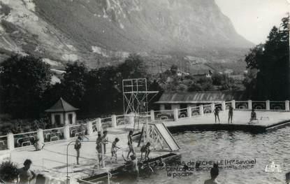 """CPSM FRANCE 74 """" Le Pas de l'Echelle, La piscine du Centre de vacances de la SNCF"""""""