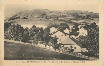 """CPA FRANCE 74 """"Le Salève, Vue générale de la Croisette et Chemin du Crêt"""""""
