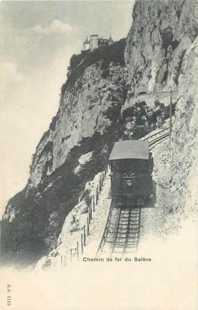 """CPA FRANCE 74 """"Le Salève, Le chemin de fer"""""""