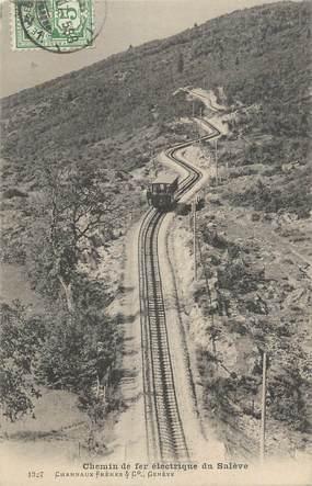 """CPA FRANCE 74 """"Le Salève, Le Chemin de fer électrique """""""