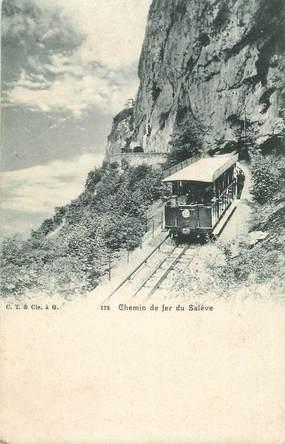 """CPA FRANCE 74 """"Le Salève, Le Chemin de fer """""""