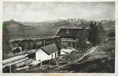 """CPA FRANCE 74 """"Le Salève, Le Mont Blanc vue du Buffet des XIII Arbres"""""""
