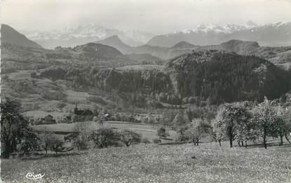 """CPSM FRANCE 74 """"Onnion, Pension Bellevue, le Mont Blanc"""""""