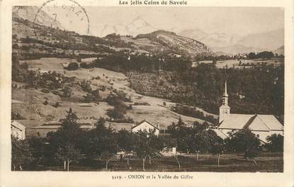 "CPA FRANCE 74 ""Onnion, La vallée du Giffre"""