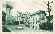 """74 Haute Savoie CPA FRANCE 74 """"St Jeoire en Faucigny, La place, le monument aux morts et le clocher de l'église"""""""