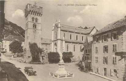 """CPA FRANCE 74 """"St Jeoire en Faucigny, La place"""""""