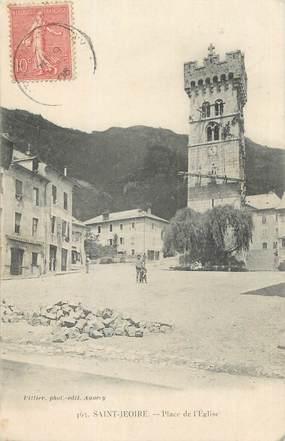 """CPA FRANCE 74 """"St Jeoire en Faucigny, La place de l'église"""""""
