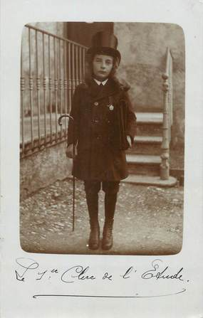 "CARTE PHOTO FRANCE 74 ""St Jeoire en Faucigny, Un enfant"""