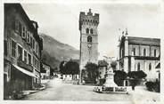 """74 Haute Savoie CPSM FRANCE 74 """"St Jeoire en Faucigny, Place du marché et Mont Herbette"""""""