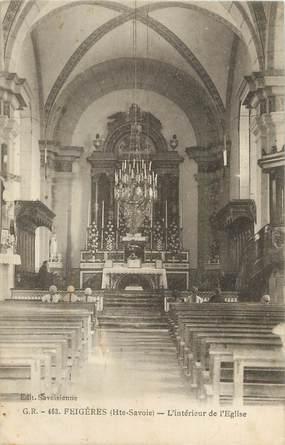 """CPA FRANCE 74 """" Feigères, L'intérieur de l'église"""""""