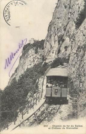 """CPA FRANCE 74 """" Le Salève, Le chemin de fer et le château de Monnetier"""""""
