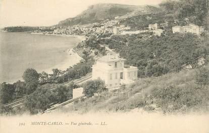 "CPA MONACO ""Monte Carlo, vue générale"""