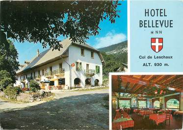 """CPSM FRANCE 74 """" Col de Leschaux, Hôtel Bellevue"""""""