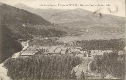 """CPA FRANCE 74 """" Chedde, L'usine, la plaine du Favet et le Mont Joly"""""""