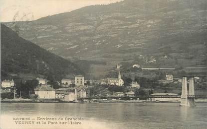 """CPA FRANCE 38 """" Veurey, Le pont sur l'Isère"""""""