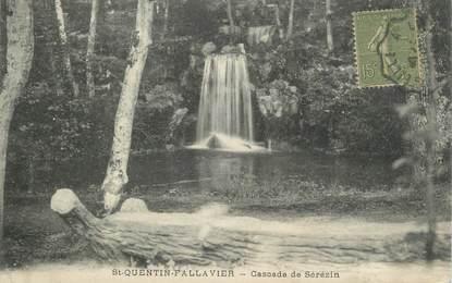 "CPA FRANCE 38 "" St Quentin Fallavier, Cascade de Sérezin"""