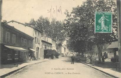 """CPA FRANCE 38 """" Pont de Chéruy, Rue centrale"""""""