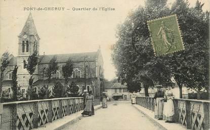 """CPA FRANCE 38 """" Pont de Chéruy, Quartier de l'église"""""""