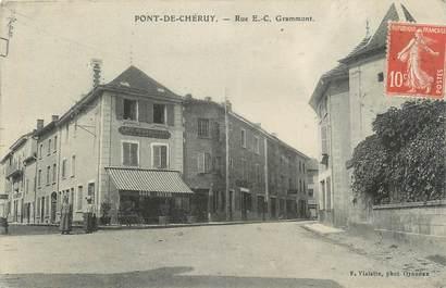 """CPA FRANCE 38 """" Pont de Chéruy, Rue EC Grammont"""""""