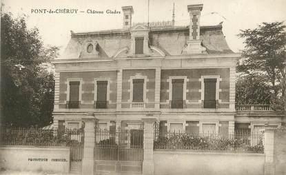 """CPA FRANCE 38 """" Pont de Chéruy, Château de Gindre"""""""