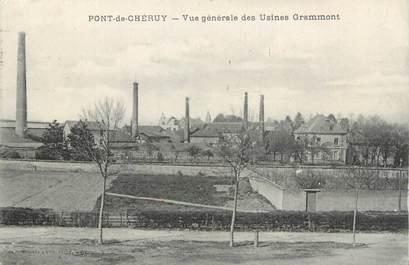 """CPA FRANCE 38 """" Pont de Chéruy, Vue générale des usiines Grammont"""""""