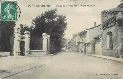 """CPA FRANCE 38 """" Pont de Chéruy, Entrée de la ville par la Route de Lyon"""""""