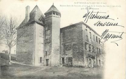 """CPA FRANCE 38 """" St Etienne de St Geoirs, Maison forte de Fassion"""""""