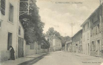 "CPA FRANCE 38 "" La Verpillère, La grande rue"""