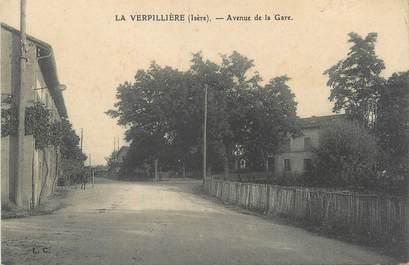 """CPA FRANCE 38 """" La Verpillère, Avenue de la gare"""""""