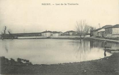 """CPA FRANCE 38 """" Roche, Le lac de la Tiercerie"""""""