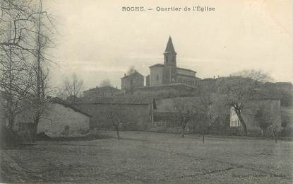 "CPA FRANCE 38 "" Roche, Quartier de l'église"""