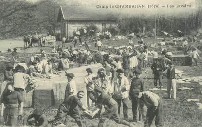 """CPA FRANCE 38 """" Chambaran, Les Lavoirs au camp"""""""