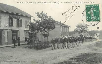 "CPA FRANCE 38 "" Chambaran, Arrivée du bataillon au camp"""