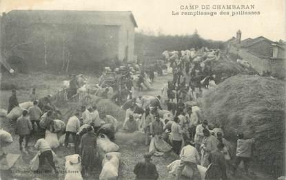 """CPA FRANCE 38 """" Chambaran, Le remplissage des paillasses au camp"""""""