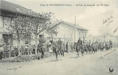 """CPA FRANCE 38 """" Chambaran, Arrivée au camp du 140ème de ligne"""""""