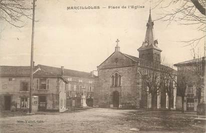 """CPA FRANCE 38 """" Marcilloles, La Place de l'église"""""""