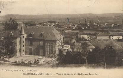 """CPA FRANCE 38 """" Marcilloles, Vue générale et Château Jourdan"""""""