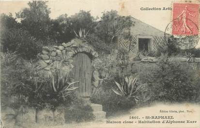 "CPA FRANCE 83 "" St Raphaël , Maison close Habitation d'Alphonse Karr'"