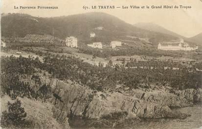 """CPA FRANCE 83 """" Le Trayas, Les villas et le Grand Hôtel du Trayas"""""""