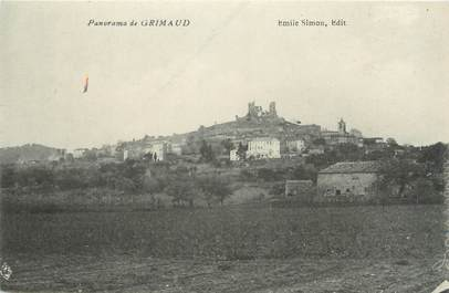 """CPA FRANCE 83 """"Grimaud, Panorama"""""""