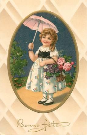 CPA  ENFANT / Petite fille et son panier de fleurs